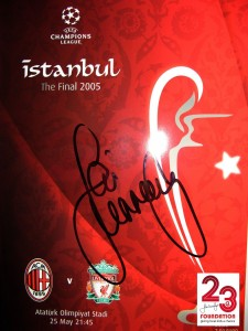 Signed Liverpool v AC Milan Programme Istanbul 2005