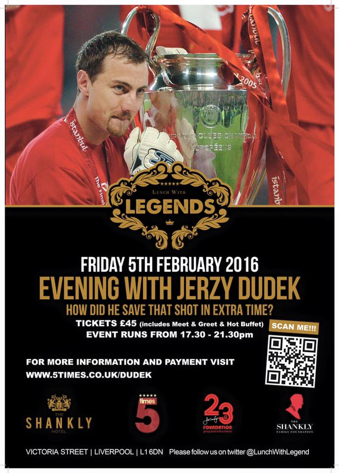 Fancy an evening with Jerzy Dudek?