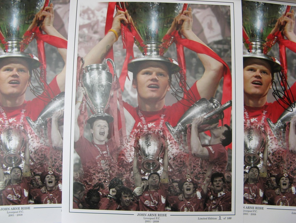 John Arne Riise Limited Edition Signed Liverpool FC Print