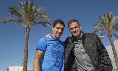 Carra Catches Up With Luis Suarez …