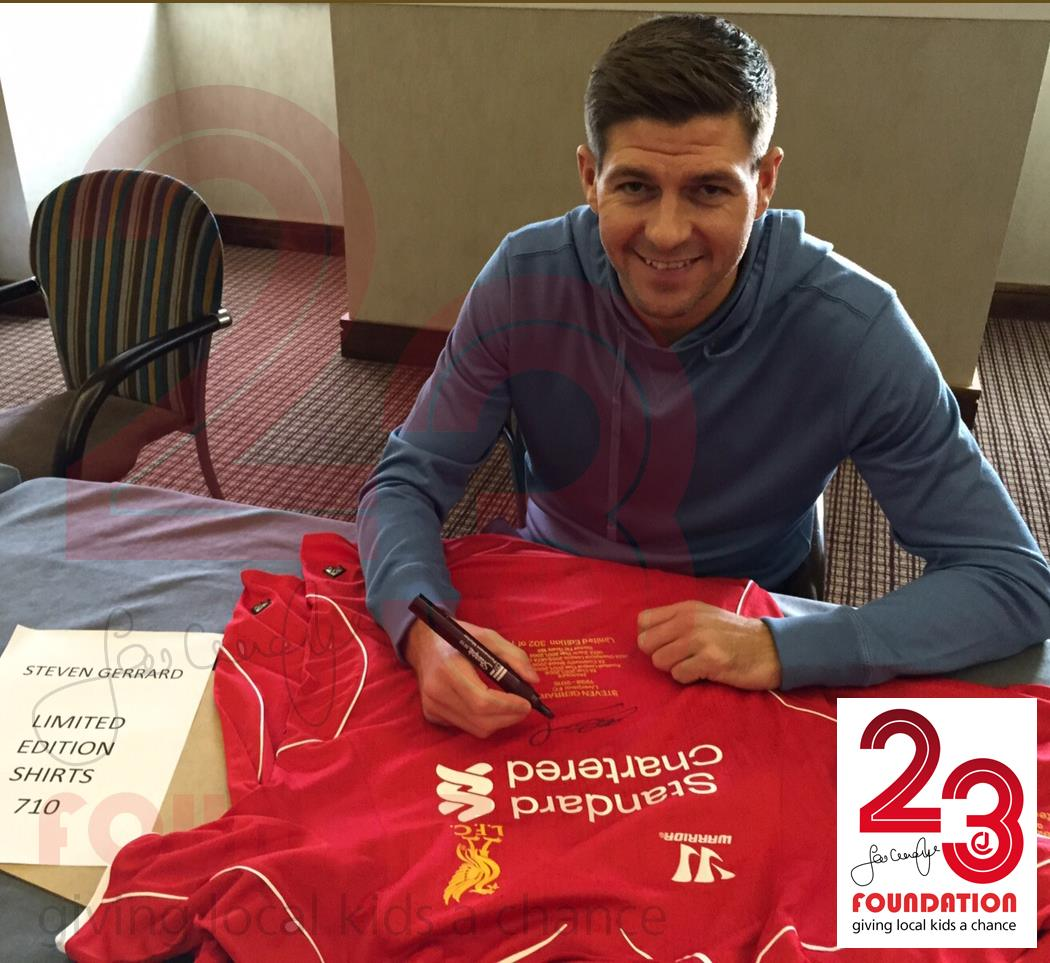 Limited Edition Signed Gerrard Shirt …