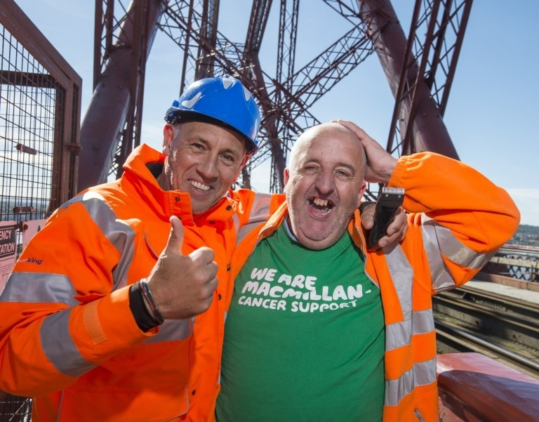A close shave on the Forth Road Bridge ….
