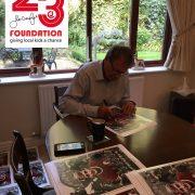 Roger Hunt Signed Montage
