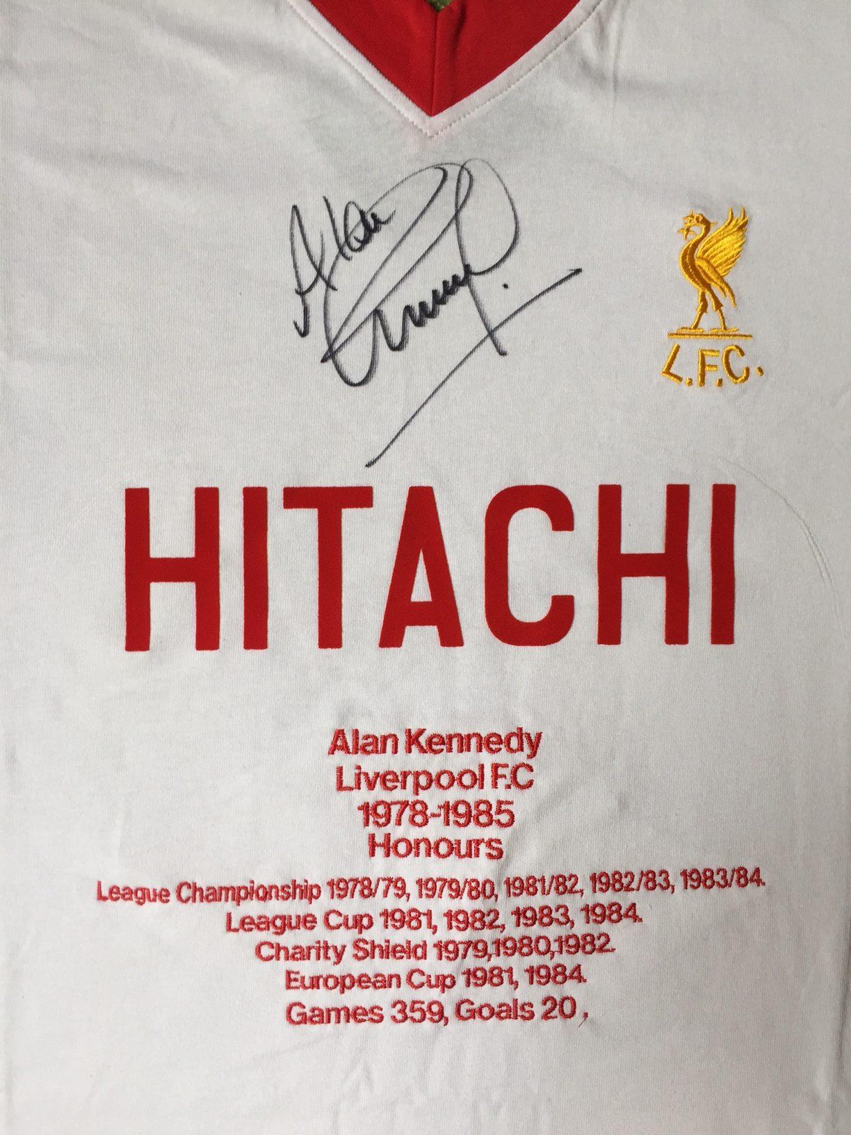 19c82af424b Jamie Carragher 23 Foundation » Alan Kennedy Signed Honours Shirt
