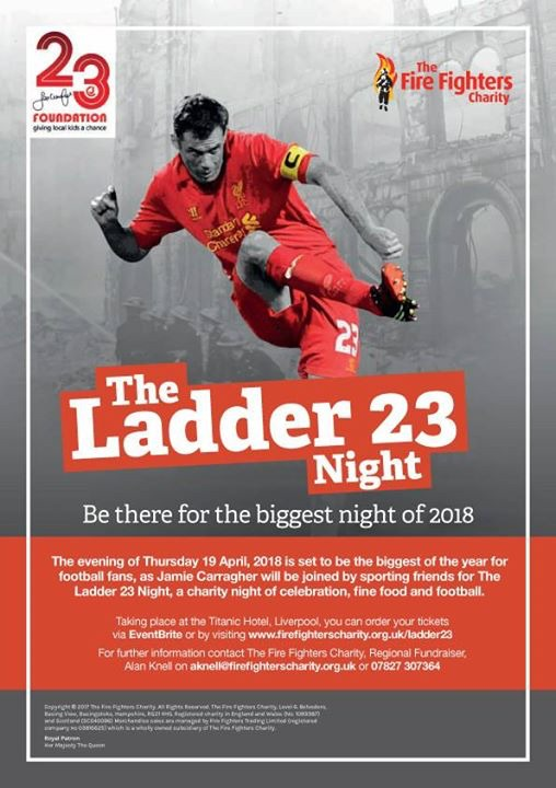 Join Jamie Carragher at the Ladders 23 Night in Liverpool.