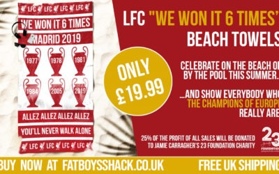 "Would You Like A ""We Won It 6 Times"" – LFC Beach Towel"