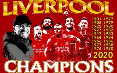 Liverpool FC are English Premiership Champions!!!